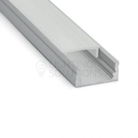 Alumínium profil 2m (matt fedőlappal)