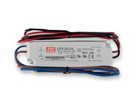 MW LPV-20-24 IP67 118x35x26mm 24V DC
