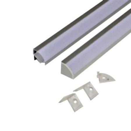 Alumínium sarok profil 2m