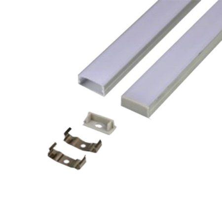 Alumínium széles profil matt fedlappal 2m