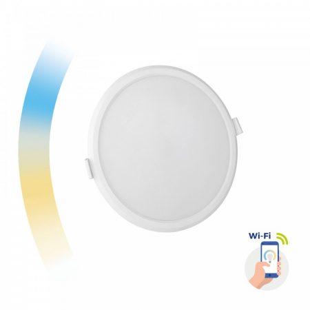 ALGINE 12W CCT+DIM Wi-Fi Spectrum SMART körpanel, süllyeszthető