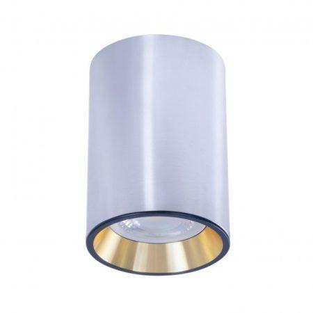 CHLOE MINI IP20 kerek, ház ezüst, gyűrű arany, perem fekete