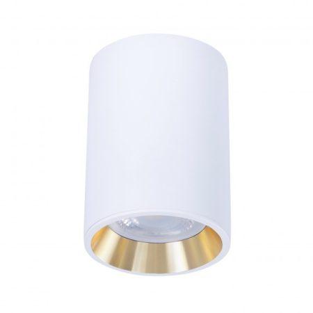 CHLOE MINI IP20 kerek, ház fehér, gyűrű arany, perem fehér