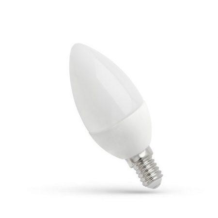 LED Gyertya E14 230V 4W CW