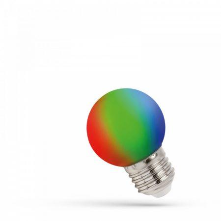 LED Kisgömb E27 230V 1W RGB