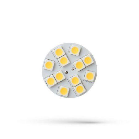 LED G4 12V 2W 12 LED WW 30x17mm back pin