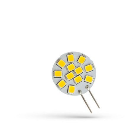 LED G4 12V 1,2W 12 LED CW 20x30mm