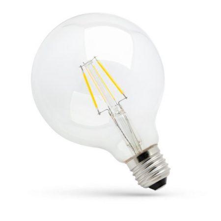LED GLOB G125 E27 230V 8W COG WW üveg