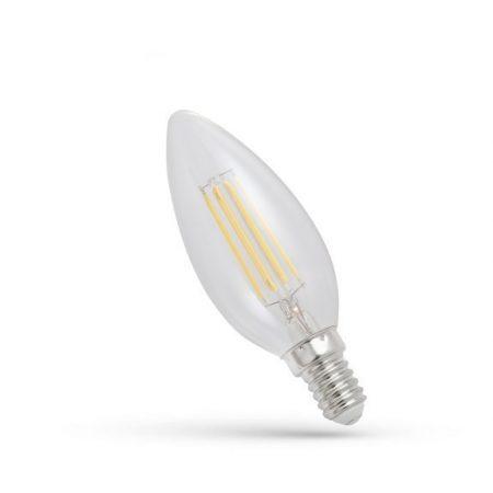 LED gyertya E14 230V 4W COG WW üveg