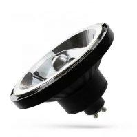 LED AR111 GU10 230V 15W COB 10° WW fekete házas