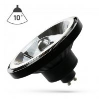 LED AR111 GU10 COB 15W 230V CW  - 10° fekete házas