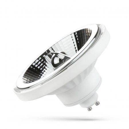 LED AR111 GU10 230V 12W SMD 20° WW fehér házas
