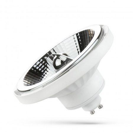 LED AR111 GU10 230V 12W SMD 20° NW fehér házas