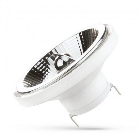 LED AR111 G53 12V 12W SMD 20° NW fehér házas