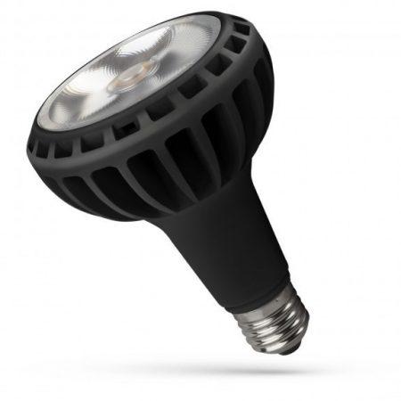 LED PAR30 E27 230V 20W WW Fekete