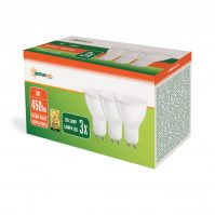 LED GU10 230V 6W SMD WW with milky cover white 3-pack
