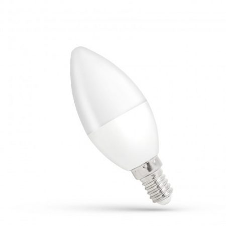 LED Gyertya E14 230V 8W WW