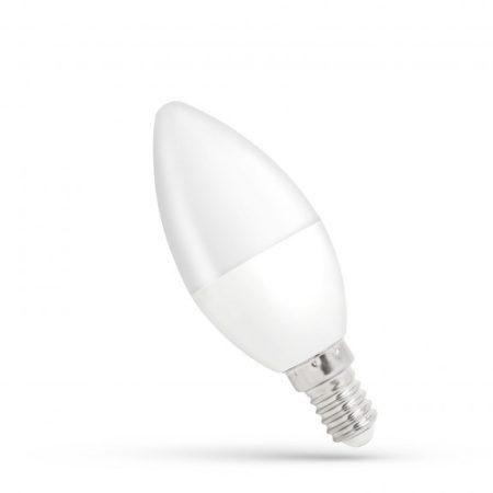 LED Gyertya E14 230V 8W CW