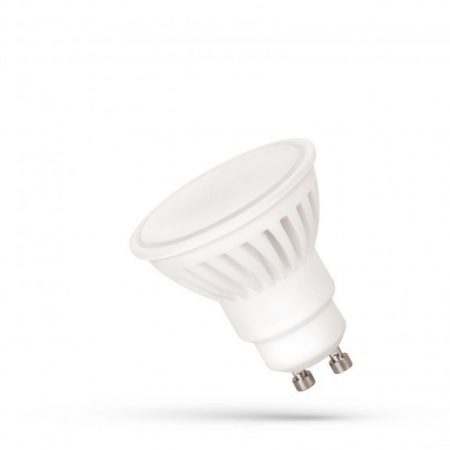 LED GU10 230V 10W SMD WW 100° Prémium, kerámia, fehér