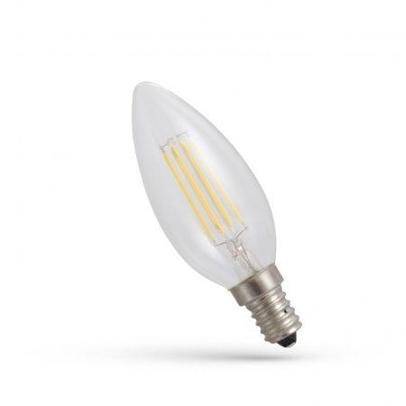 LED gyertya E14 230V 6WCOG WW üveg