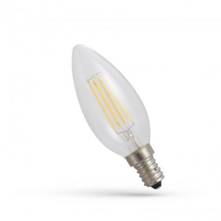 LED gyertya E14 230V 6WCOG NW üveg
