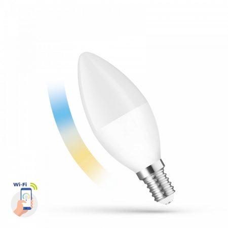 LED Gyertya E14 230V 5W CCT+DIM WI-FI - SMART